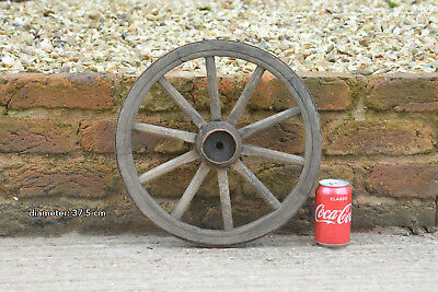 Vintage old wooden cart wagon wheel  / 37.5 cm  FREE DELIVERY