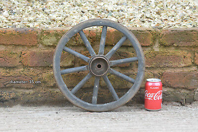 Vintage old wooden cart wagon wheel  / 35 cm  FREE DELIVERY