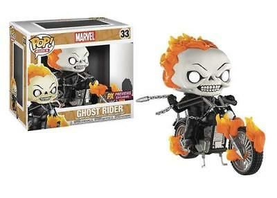 "Funko Toys Pop Rides: Marvel Classic Ghost Rider w/ Bike  4"" Figure #33"