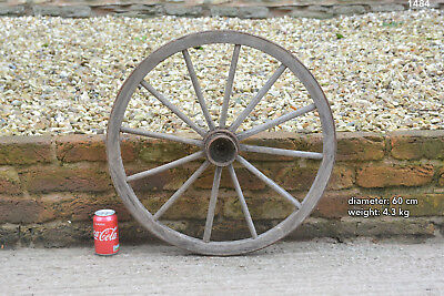 Vintage old wooden cart wagon wheel  / 60 cm  FREE DELIVERY