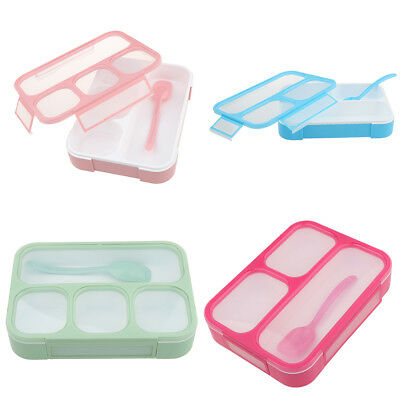 Plastic Portable Meal Fruit Lunch Box Bento Food Container Case School/Hotel