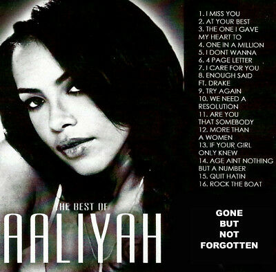 Best Of Aaliyah Gone But Not Forgotten DJ Compilation Mix CD