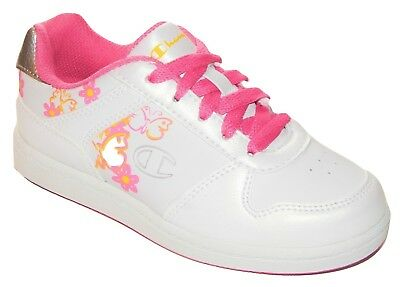 7548a462ac7 CHAMPION WHITE RALLY Sneakers Athletic Shoes NWT Girls Size 10.5 ...