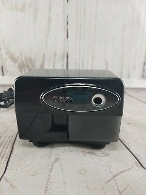 Panasonic KP-310 Electric Pencil Sharpener Black W/ Suction Cup Feet Tested
