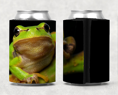 Frog Green Tree Stubby Holder Can Cooler