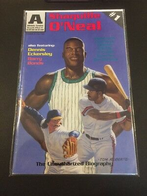 CB55 Athletic Comics SHAQUILLE O'NEAL 1993 #1 1st Print Barry Bonds Eckersley