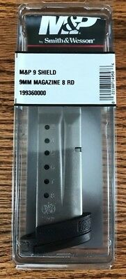 Smith & Wesson S&W M&P SHIELD 9mm MAGAZINE 8-RD mag w/EXT  #19936 *FREE SHIP*
