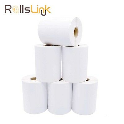 RollsLink 6 Rolls DYMO 1744907 Compatible Lables, 4 x 6 Direct Thermal La... New