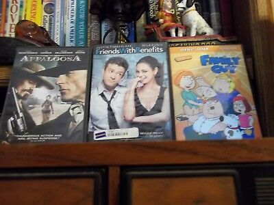 3 DVD's - Friends with Benefits; Appaloosa & Family Guy Volume 2 Disc 1