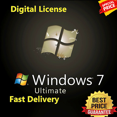 Microsoft Windows 7 Ultimate SP1 32/64 bit Product Key MS Win 7 SP1 License Code