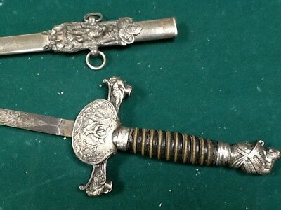 Antique late 1800s fraternal Knights of Pythias Sword Silver pettibone mfg
