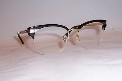 1f018838c2 NEW GUCCI EYEGLASSES GG 0201O 001 BLACK GOLD 50mm RX AUTHENTIC 0201 ...