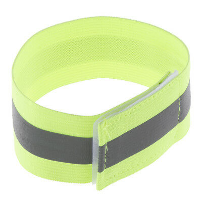 2x Reflective Cycling Running Bind Elastic Pants Band Reflective Leg Straps