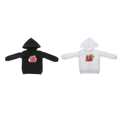 12inch Fashion Doll Casual Outfit Hooded Sweatshirt Pullover For Blythe Doll