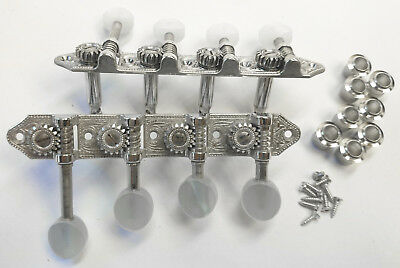 NEW! Schaller Mandolin F-Style Nickel Tuning Gears Machines Tuners Pegs Keys