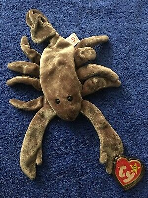 Ty Beanie Babies 1998 Stinger Scorpion Brown Tag Excellent PE