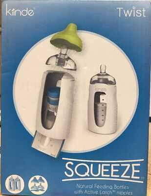 NEW Kiinde Squeeze Natural Feeding Bottle  2 ct FREE SHIPPING
