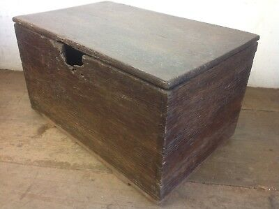 Antique oak wood Box Chest old
