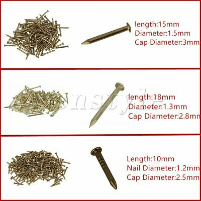 100PCS Furniture Round Head Archaize Brass Miniature Nail for Furniture Hinge