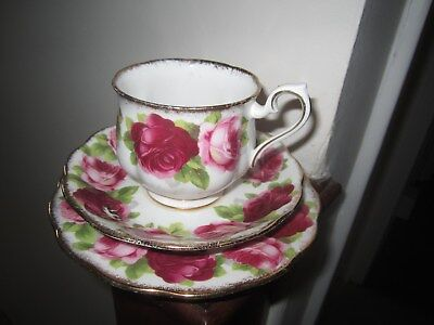 Royal Albert Old English Rose Trio First Quality In Very Good Condition