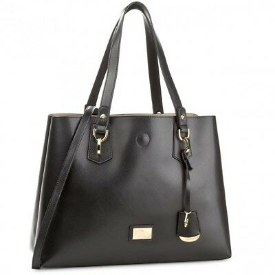 Bauletto Borsa Liu Jo Hawaii A18145 Shopping Bag M Nero Black Gold Oro  Tracolla 9bdf6483b60