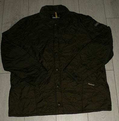 """Barbour """"XL"""" Green Liddesdale Track Quilt Mens Jacket Quilted Coat"""