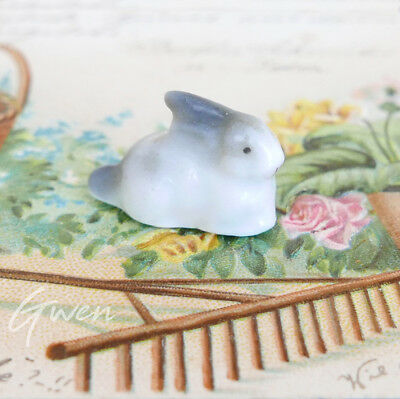 Feve Ancienne Allemande Lapin 13 x 25 mm Miniature Biscuit 1910 Figurine