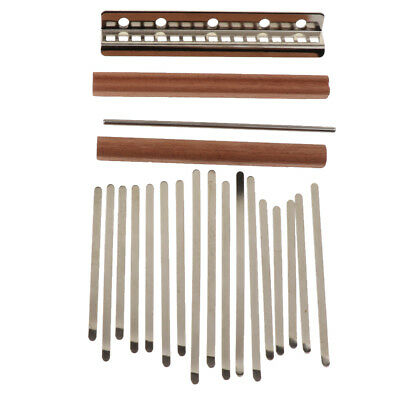 Steel 17 Note Kalimba Keys with Thumb Piano Bridge Set for Replacement Parts