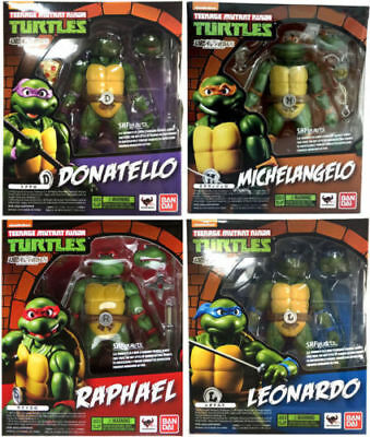 Bandai Teenage Mutant Ninja Turtles  Raphael SH Figuarts Action Figures Toy 4pc