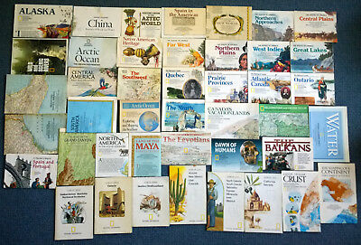 NATIONAL GEOGRAPHIC Magazine MAPS BUNDLE x43 - 1960s - 2000s