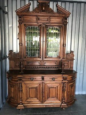 Awesome Antique French Henry II Carved Walnut Sideboard Buffet circa Mid 1800's