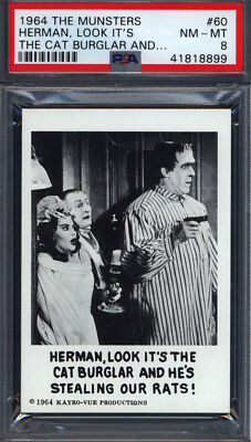 1964 Leaf The Munsters #60 Look It's The Cat PSA 8 *689591