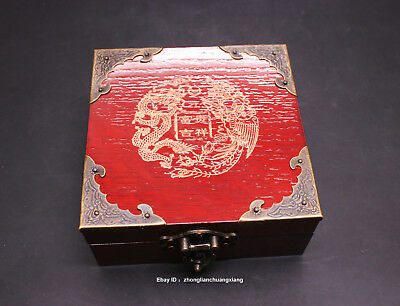 Chinese wood jade jewelry box necklace bracelet pendant Hand piece ring box tray