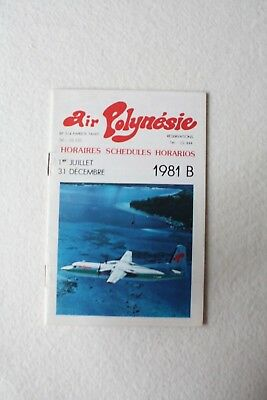 Air Polynesie Tahiti Timetable 1981