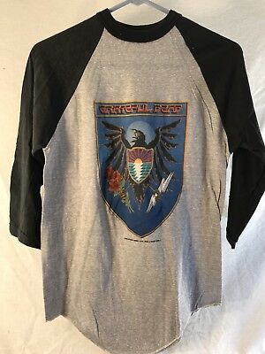 Grateful Dead Shirt, Tour 83 Vintage 3/4 Sleeve, DeadStock, original Medium