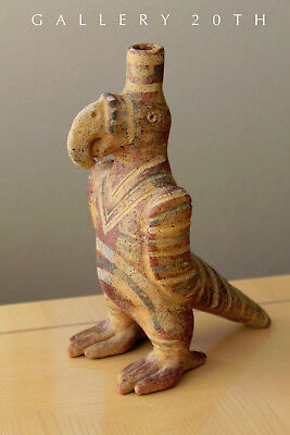 Ancient Peruvian Pottery! Large Parrot Vessel! Incan Huaco Ad 100 Pre-Columbian
