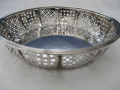 VINTAGE: pierced work, silver plated BOWL by JOSEPH ROGERS & SONS Sheffield.