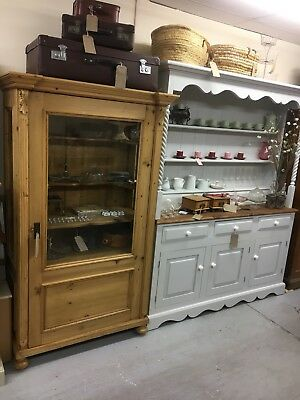 Antique Victorian Pine Larder Cupboard,housekeeper Unit,Furniture Showroom Kent