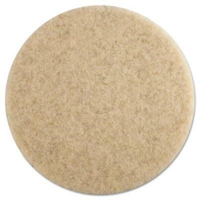"""Premier 4019NHE Ultra High-speed Floor Pads, 19"""" Dia, Natural Hair, Champagne,"""