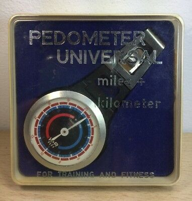Vintage PEDOMETER Universal w/ Box Instructions Made in Canada Fredericton NB