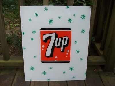 VINTAGE NOS 7 UP SIGN, LATE 50s EARLY 60s
