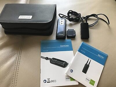 Phonak Mylink Wireless Receiver & Zoomlink Easylink Transmitter .