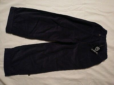 Girls Navy Needlecord Trousers By Ej Sikke Lej Age 4yr 104cm