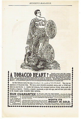Vintage, Original, 1894 - No-To-Bac Advertisement - Tobacco Smoking Remedy