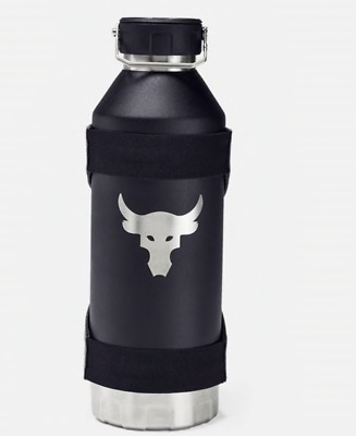 New Under Armour UA Project Rock 40 ounce Water Bottle With Sleeve