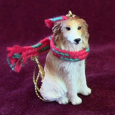 Borzoi Christmas Ornament for Red Leash Rescue ~  Great Deal!