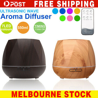 550ml Essential Oil Humidifier Aroma Diffuser Ultrasonic Air Mist Aromatherapy