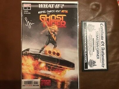 Marvel - What If? - Ghost Rider Issue 1 - Signed By Sebastian Girner And Coa