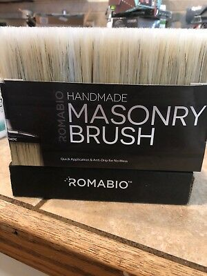 ROMABIO 6-3/4 in. x 3-1/2 in. x 2-1/2 in. Large Masonry Brush High Quality