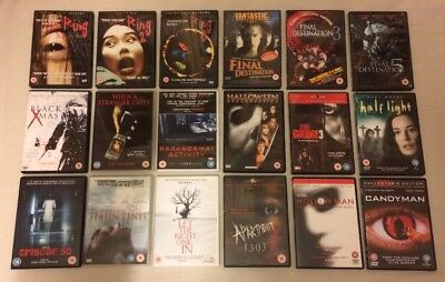 18 Horror / Slasher / Gore Movies DVD Bundle: Ring Final Dest.. etc FREE UK POST